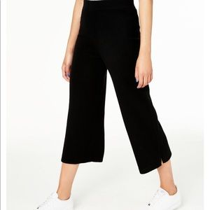 Plus Size Pure Cashmere Knit Culotte Pants